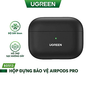 Hộp đựng bảo vệ chuyên dụng cho tai nghe Airpods Pro hỗ trợ sạc dây và không dây UGREEN LP324 80513- Hàng chính hãng