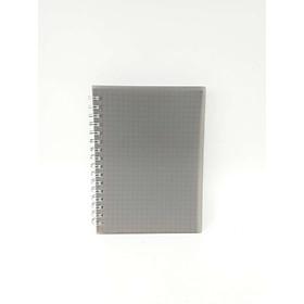 Sổ vở lò xo giấy kẻ caro basic bìa nhựa 84 trang A6