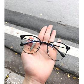 Kính gọng KOREA mắt tròn kim loại