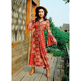 Váy thiết kế đỏ quý tộc
