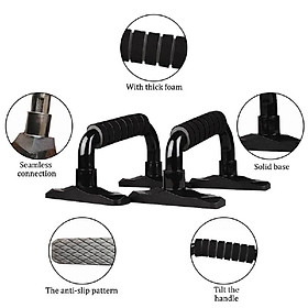 4-in-1 AB Wheel Roller Kit Abdominal Press Wheel Pro with Push-UP Bar Jump Rope and Knee Pad Portable Equipment for Home Exercise-3