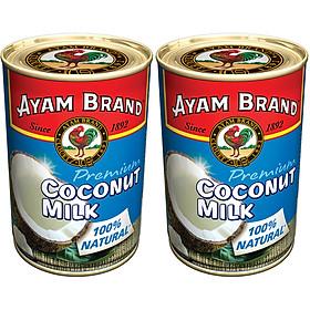 Nước Cốt Dừa Nguyên Chất Ayam Brand Lốc 2 Lon (400ml x 2)
