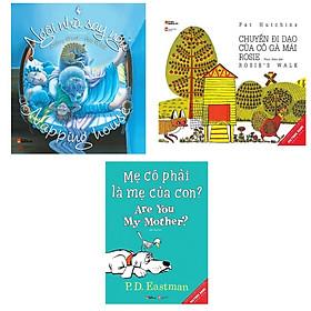 Combo 3 cuốn Picture Book Song Ngữ : Ngôi Nhà Say Ngủ - Napping House + Mẹ Có Phải Là Mẹ Của Con? - Are You My Mother? + Chuyến Đi Dạo Của Cô Gà Mái Rosie – Rosie's Walk ( Dành cho trẻ từ 3-8 tuổi) ( Tặng kèm Bookmark Happy Life)