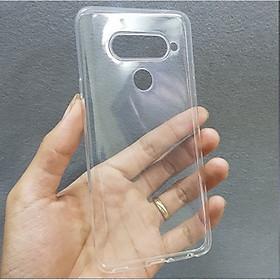 Ốp lưng dẻo silicone trong suốt dành cho LG V40 - Loại A+