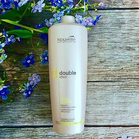 Dầu gội Keratin Nouvelle New Generation Double Effect Nutritive dược thảo  hỗ trợ dưỡng trị tóc hư 1000ml