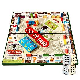 Boardgame Cờ Tỷ Phú Việt Nam Sato Cỡ Lớn 42x42 Tặng Kèm Xúc Xắc Gỗ-Trò Chơi Rèn Luyện Tư Duy Làm Giàu