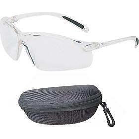 Kính trắng, kính bảo hộ nam nữ A700 cao cấp chống nước , chống bụi , chống UV , ôm sát mắt (có hộp kính ) và tặng móc treo khóa