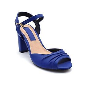 Giày Sandal Gót Vuông Quai Kiểu Sulily SGV2-I17NAVY