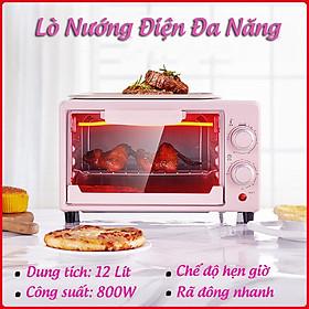Lò Nướng Bánh Mini Đa Năng Công Suất 800W Rã Đông Nhanh - Lò Nướng Điện