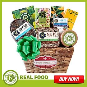 Giỏ quà Sức Khỏe: Tết Phúc Lộc 8 Món Cao Cấp Real Food