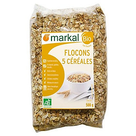 Ngũ cốc hỗn hợp hữu cơ cán dẹp MARKAL 500g