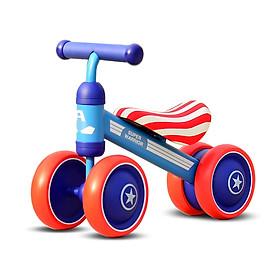Xe chòi chân bốn bánh thăng bằng cho bé khung thép cao cấp (màu ngẫu nhiên)