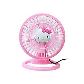 Quạt điện mini để trên bàn Hello Kitty USB