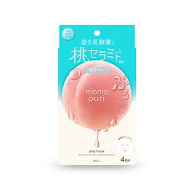 Mặt Nạ Thạch Đào Dưỡng Trắng Tinh Khiết Momopuri ( 4 miếng )