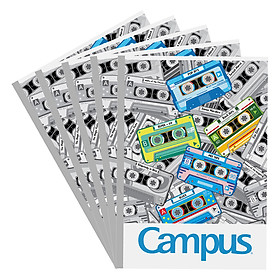 Lốc 5 Vở Viết A4 Mixtape Campus NB-A4MT200 - Mẫu Ngẫu Nhiên (200 Trang)