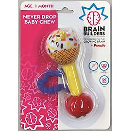 Đồ Chơi Trẻ Sơ Sinh 2 Tháng | Bé Tập Cầm Never Drop Baby Chew  - Brain Builder BB085