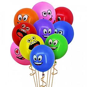 10 bong bóng cao su mặt cảm xúc nhiều màu