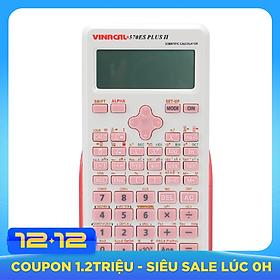 Máy Tính Học Sinh Vinacal 570ES Plus II - Hồng Trắng - Hàng Chính Hãng