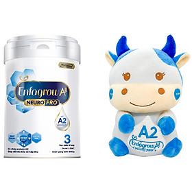 Bộ 1 Lon Sữa Bột Enfagrow A2 Neuropro 3 Cho Trẻ Từ 1 – 6 Tuổi – 800g Tặng 1 Bò Sữa Bông Đáng Yêu
