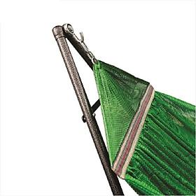 Võng xếp khung thép cao cấp VINANOI KVT32 - Lưới võng cỡ đại màu xanh lá