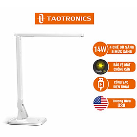 Đèn LED chống cận TaoTronics TT-DL02, 4 chế độ sáng, 5 mức sáng, hẹn giờ - Hàng chính hãng