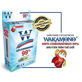 COMBO 10 HỘP (Hộp 10 cái) - KHẨU TRANG TRẺ EM WAKAMONO - MỸ & CHÂU ÂU CHỨNG NHẬN