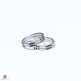 [RẺ VÔ ĐỊCH - Bạc Cao Cấp Cam Kết 100% Bạc Ta] Nhẫn bạc lông voi nhân tạo may mắn - Kiểu nhẫn đôi