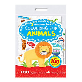 Sách tô màu 3 Awesome Books: Colouring Fun Animals