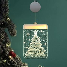 Dây Treo Đèn LED 3D Hình Cây Thông, Chuông Trang Trí Giáng Sinh, Noel, Năm Mới