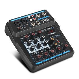 XTUGA 2020 mới 4/6 kênh trộn mini Console âm thanh mixer với Bluetooth, USB, 48V Phantom Power cho Live/máy tính/gia đình K bài hát