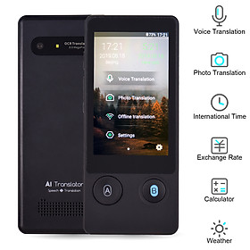 Smart Language Voice Translator Multi-Functional Translation Device with 3.1 Inch Touchscreen 51 Languages (120 Accents)