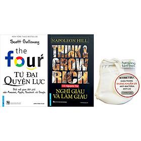 Combo 2 Tựa Sách: Think & Grow Rich - Nghĩ Giàu Và Làm Giàu + Tứ Đại Quyền Lực (Ép Tặng Kèm 5 Khẩu Trang)