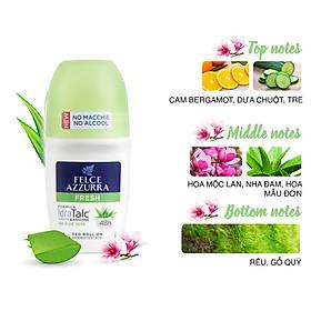 Lăn khử mùi hương nước hoa Ý tươi mát Felce Azzurra 50ml