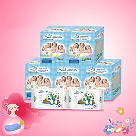 Combo thùng mini 5 hộp khăn vải khô đa năng cho bé Oma Baby ( 1 Hộp/ 80 miếng) Tặng kèm 2 gói khăn ướt Oma & Baby ( 1 gói / 25 tờ) - Combo 5 Oma & Baby saliva towel ( 1 box/ 80 towels) Free 2 packs of Oma & Baby wet wipes ( 25 sheets/ pack)