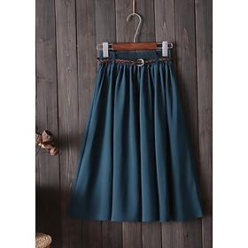 Chân váy chữ A xòe kèm thắt lưng free size VAY06