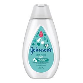 Sữa tắm Johnson's Baby chứa sữa và gạo (200ml)