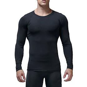 Áo Body Thể Thao Nam Dài Tay Giữ Nhiệt Tập Gym Bóng Đá Co Dãn AS11