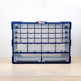 Tủ đựng linh kiện ốc vít, phụ kiện điện thoại, đồ chơi le go, đồ DIY, trang sức tiện dụng nhựa nguyên sinh 38 ngăn A001