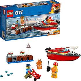 Bộ lắp ráp Cứu Hỏa Bến Tàu LEGO 60213 (Hàng Clearance-Không Đổi Trả)