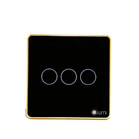 Công tắc cảm ứng chữ nhật điều khiển cửa cuốn Lumi LM-S3D - Đen