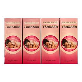 Bộ 4 chai nước tắm bà mẹ sau sinh Trakana ( Tặng kèm 2 chai )