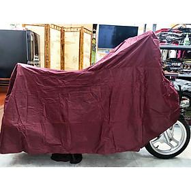 Tấm bạt trùm xe máy chống thấm loại dày tốt màu đỏ đô PKXM004