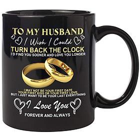 TO MY WIFE HUSBAND Ceramic Mug Universal Cartoon Cup