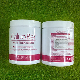 Dầu hấp ủ tóc Caluo.Ber Collagen Hair Spa Treatment siêu phục hồi mềm mượt tóc Pháp 1500ml-3
