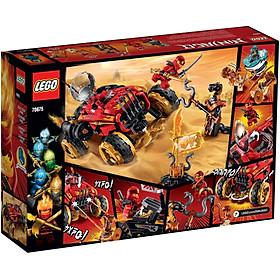 Mô hình đồ chơi lắp ráp LEGO NINJAGO Siêu Xe Địa Hình Katana 4x4 76075 ( 450 Chi tiết )
