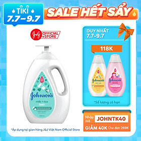 Biểu đồ lịch sử biến động giá bán Sữa tắm Johnson's Baby chứa sữa và gạo (1000ml)
