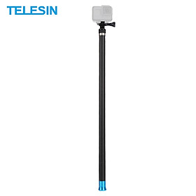 TELESIN 2.7M/106 Inch Ultra Long Carbon Fiber Selfie Stick Lightweight Extendable Handheld Pole Monopod Replacement for