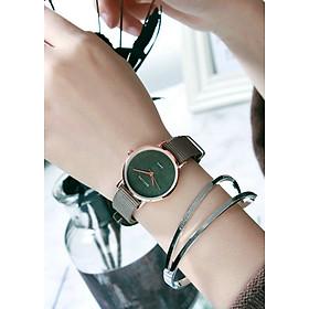 ĐỒng hồ nữ thời trang dây vải dù mặt nhỏ thời trang  sang trọng quyến rũ phong cách MS005
