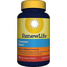 Renew Life Cleansemore Capsules, 100 -Count Bottle