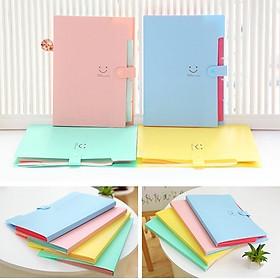 Túi đựng giấy A4/Bìa đựng hồ sơ hình mặt cười (32.5*23*1.9)-nhiều màu dễ thương